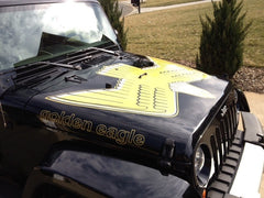 Jeep Wrangler GOLDEN EAGLE Full Color Hood Decal Kit