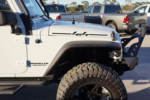 Jeep Wrangler 4x4 Hood Decals for TJ JK