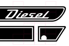 DIESEL Retro Side Hood Decals for your Jeep Gladiator JT - Multi Color