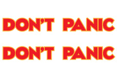 Dont Panic Hood Decals for Jeep Wrangler - Multi Color