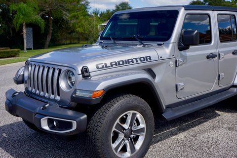 Gladiator Hood Decals for your Jeep Wrangler Gladiator