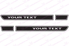 YOUR TEXT Custom Retro Hood Decals for Wrangler TJ - Multi Color
