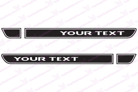 Retro Hood Decals for Jeep Wrangler TJ - Your Text (SINGLE COLOR)
