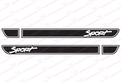 Jeep Sport Retro Hood Decals for Wrangler TJ