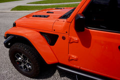 Matte Black - Fender Vent Decals for your Jeep Wrangler JL or Gladiator JT - Exact Fit