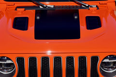 Blackout Center Hood Decal for your Jeep Wrangler Rubicon JL or Gladiator JT