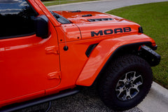 MOAB Single Color Hood Decals for your Jeep Wrangler JL JLU and Gladiator JT