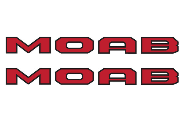 MOAB Two Color  Hood Decals for your Jeep Wrangler JL JLU and Gladiator JT