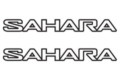 Jeep Wrangler SAHARA Hood Decals JL Style Outline Design