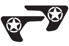 US Military Star Fender Vent Decals for your Jeep Wrangler JL or Gladiator JT - Exact Fit