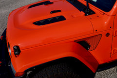 Matte Black - Honey Comb Fender Vent Decals for your Jeep Wrangler JL or Gladiator JT - Exact Fit