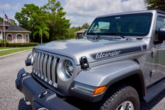 Jeep Wrangler Retro Hood Decals for Wrangler JL - Multi Color