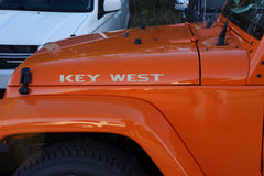Jeep Wrangler KEY WEST Hood Decals
