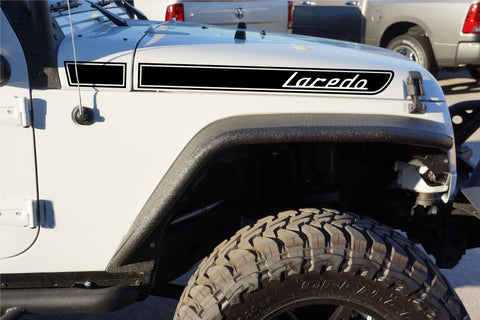 Jeep LAREDO Retro Hood Decals for Wrangler JK