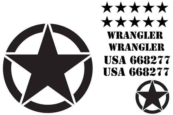 Military Star Decal Kit For Jeep Wrangler The Pixel Hut