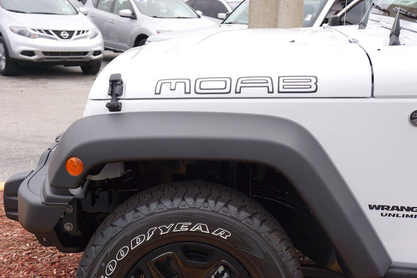 Jeep Wrangler MOAB Hood Decals