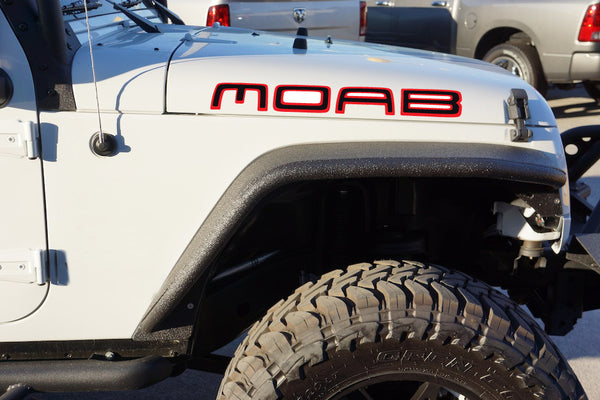 Jeep Wrangler MOAB Hood Decals - COLOR