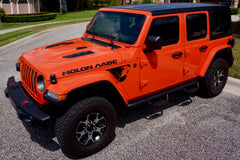 "MOLON LABE ""Come and Take"" Hood Decals with Large Spartan Helmet Side Vent Decals for Jeep Wrangler JL or Gladiator JT"