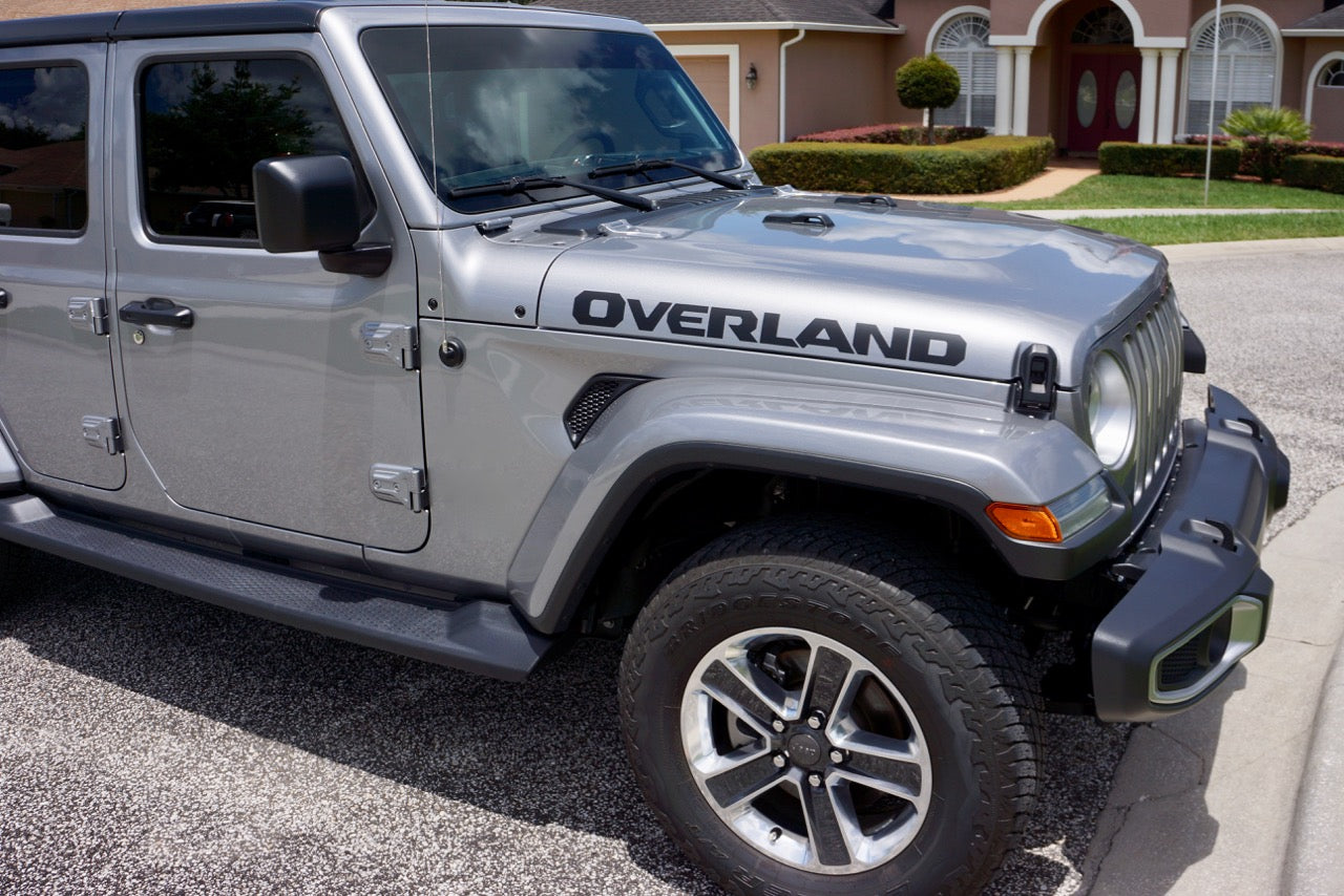 Overland Cut Out Style Hood Decal Graphics For The