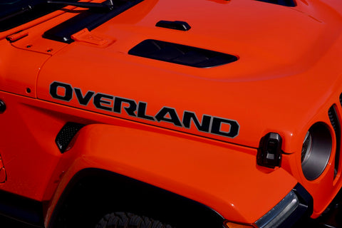 Overland Hood Decals for your Jeep Wrangler Gladiator - 2 Color