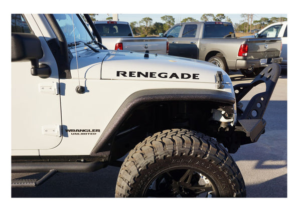 Jeep Wrangler RENEGADE Hood Decals