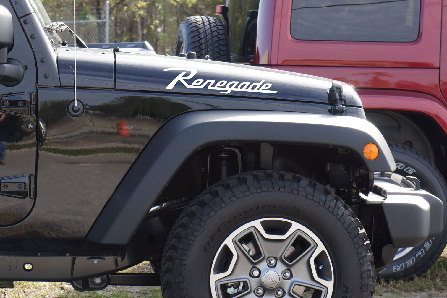 Jeep Wrangler Renegade Hood Decals Cj Style Font The