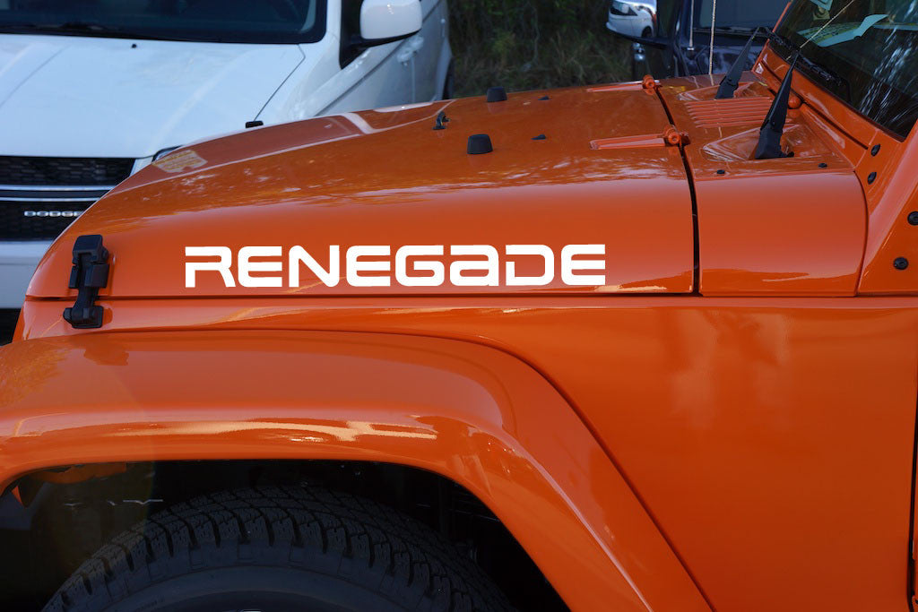 Jeep Wrangler Renegade Hood Decals YJ Style | The Pixel Hut