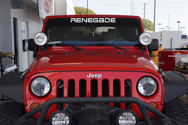 Jeep Wrangler RENEGADE YJ Style Windshield Decal