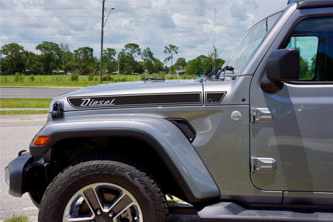 DIESEL Retro Hood Decals for your Jeep Gladiator JT 2019+