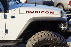Jeep RUBICON Carbon Fiber with Colored Border Hood Decals