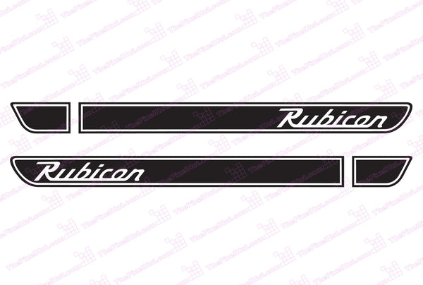 Jeep Rubicon Retro Hood Decals for Wrangler TJ