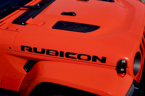 Jeep Wrangler RUBICON Hood Decals for your JL JT