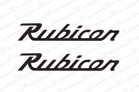 Jeep 12 inch Wrangler Rubicon Retro Style Decals