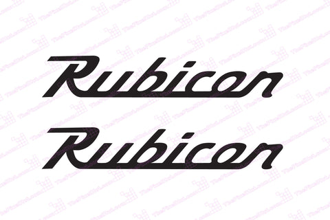 Jeep 7 inch Wrangler Rubicon Retro Style Decals
