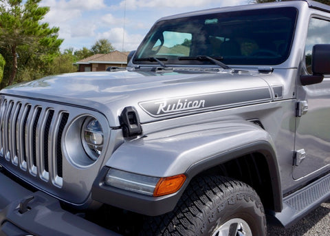 Jeep Rubicon Retro Hood Decal Kit for Wrangler JL and Gladiator JT