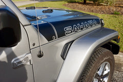 Jeep SAHARA Ramp Style Hood Decals for Wrangler JL