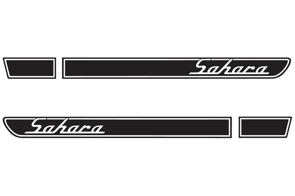 Jeep SAHARA Retro Hood Decals for Wrangler TJ - Multi Color