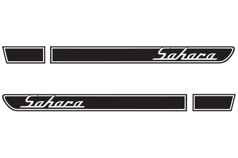 Jeep SAHARA Retro Hood Decals for Wrangler TJ