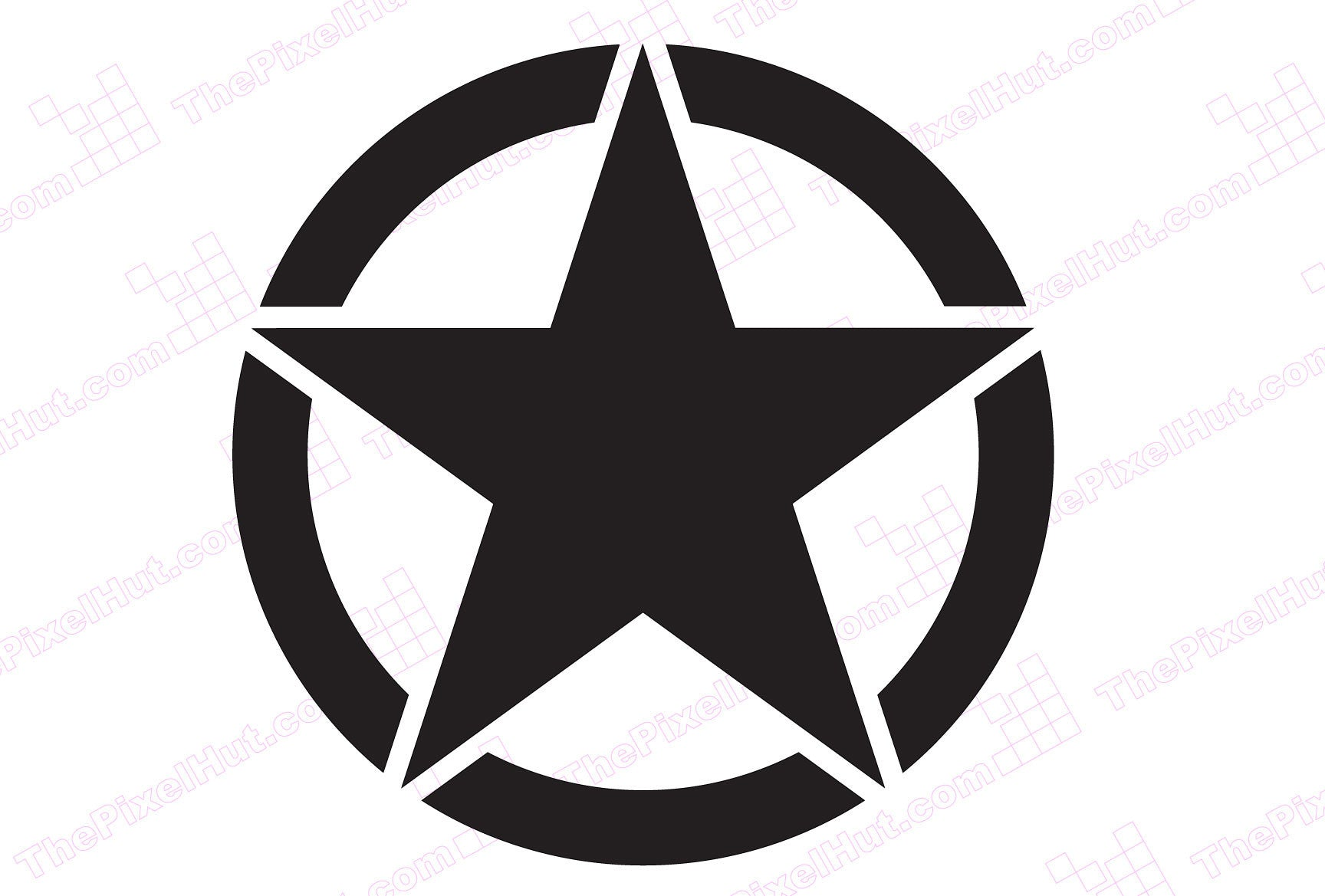 20 Inch Oscar Mike Freedom Military Star Hood Decal