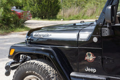 Jeep WRANGLER Retro Hood Decals for Wrangler TJ