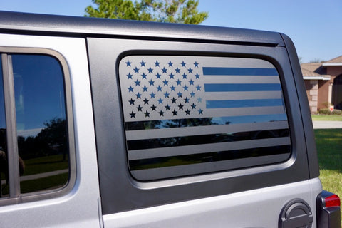 USA Flag Side Window Decals for you Jeep Wrangler JL Unlimited 4 Door