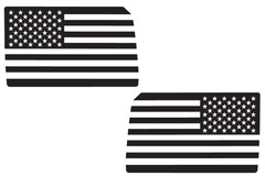 USA Flag Side Window Decals for you Jeep Wrangler JK