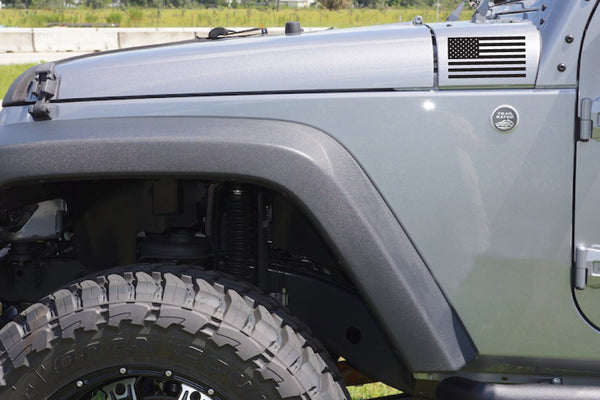USA American Flag Hood Decals for your Jeep Wrangler