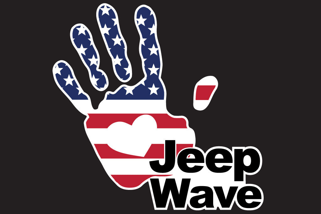 Jeep Wave Usa Flag 7 Inch Full Color Decal The Pixel Hut