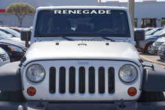 Jeep Wrangler RENEGADE Windshield Decal