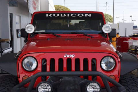 Jeep Wrangler RUBICON Windshield Decal