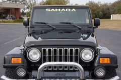 Jeep Wrangler Sahara Windshield Decal