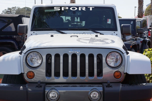 Jeep Wrangler SPORT Windshield Decal