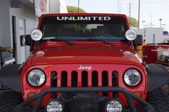 Jeep Wrangler UNLIMITED Windshield Decal