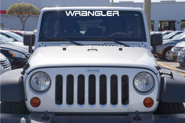 Jeep WRANGLER YJ Style Windshield Decal